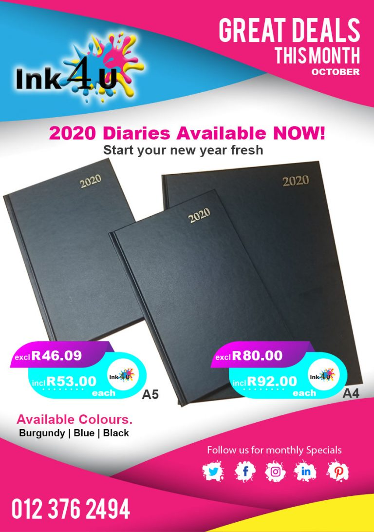 2020 Diaries are here @ Ink4U !