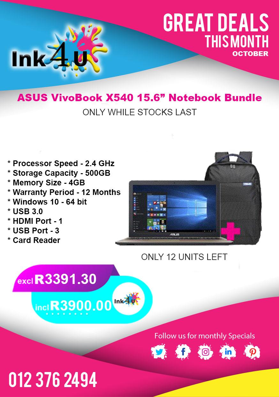 "ASUS VivoBook X540 15.6"" Notebook Bundle"