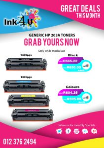 Generic HP 203A Toner Cartridges