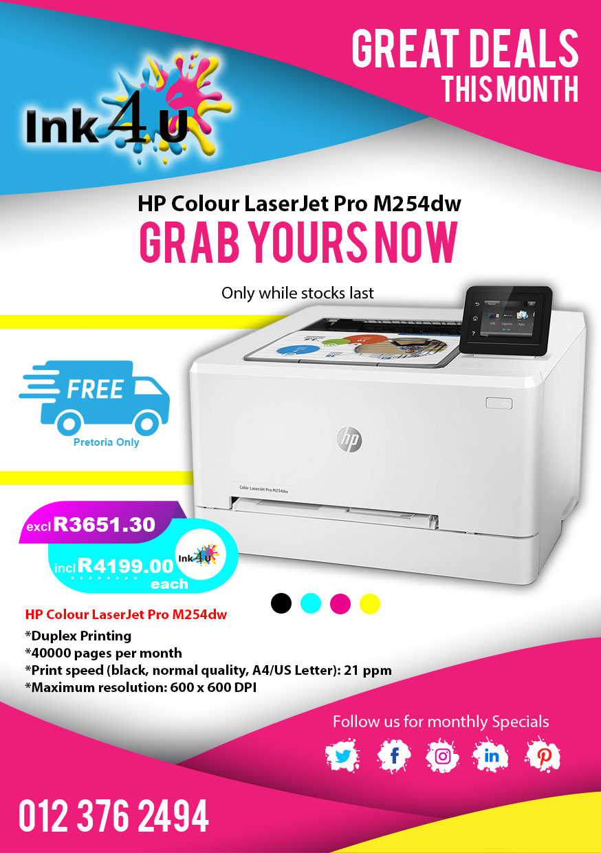 HP Colour LaserJet Pro M254dw 🖨 at INK4U