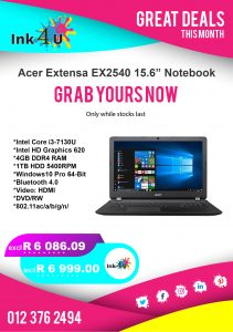 Acer Extensa EX2540 Notebook