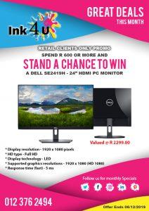 Win a Dell SE2419H 24″ HD Monitor