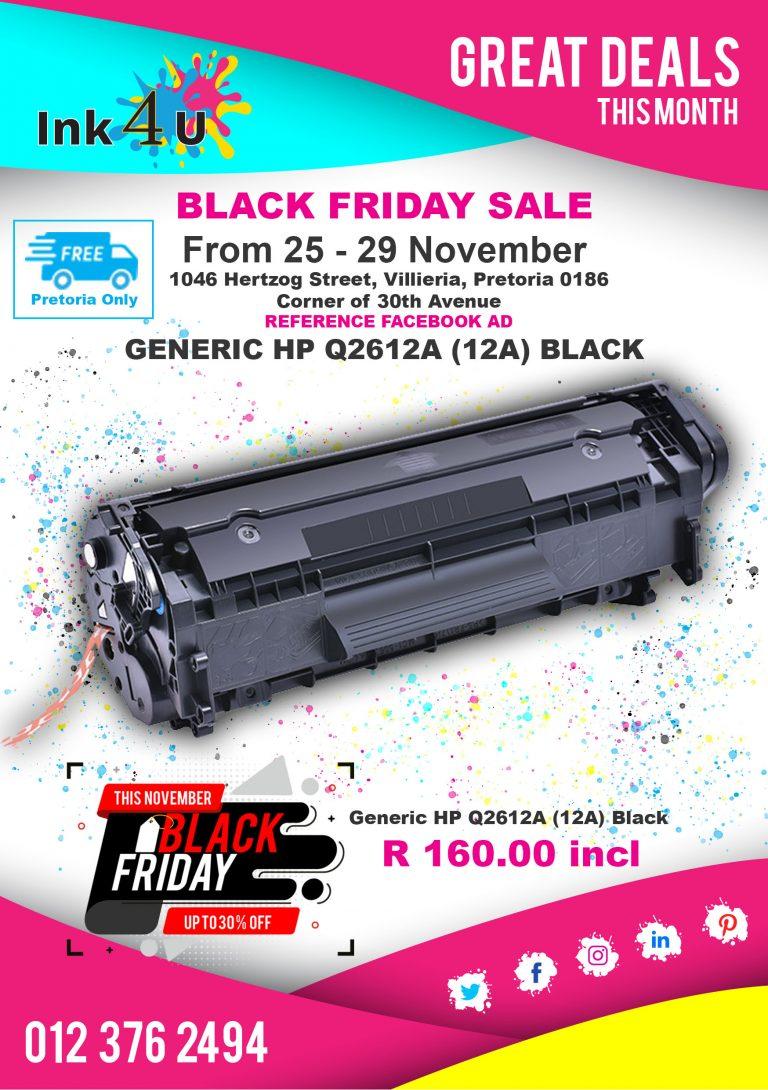 Black Friday Sale 25 – 29 November @ Ink-4U