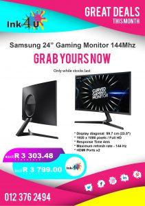 Samsung 24″ GAMING Monitor 144MHZ