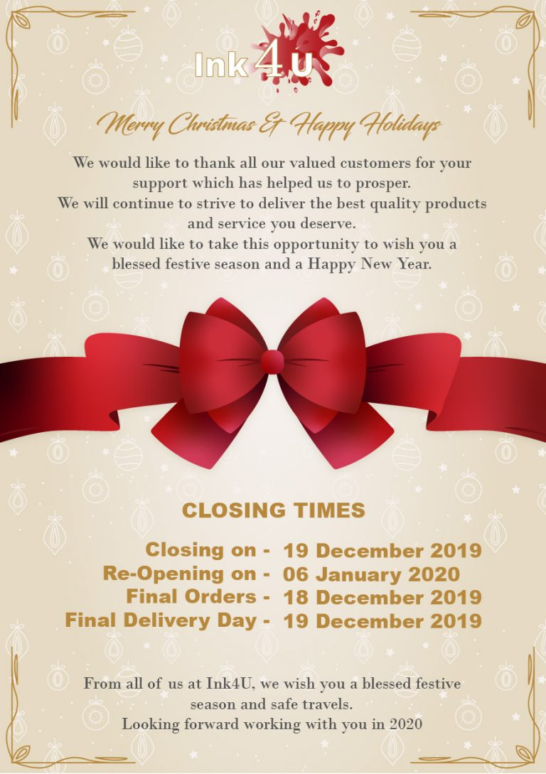 Ink-4u-printer-cartridges-festive-closing-times