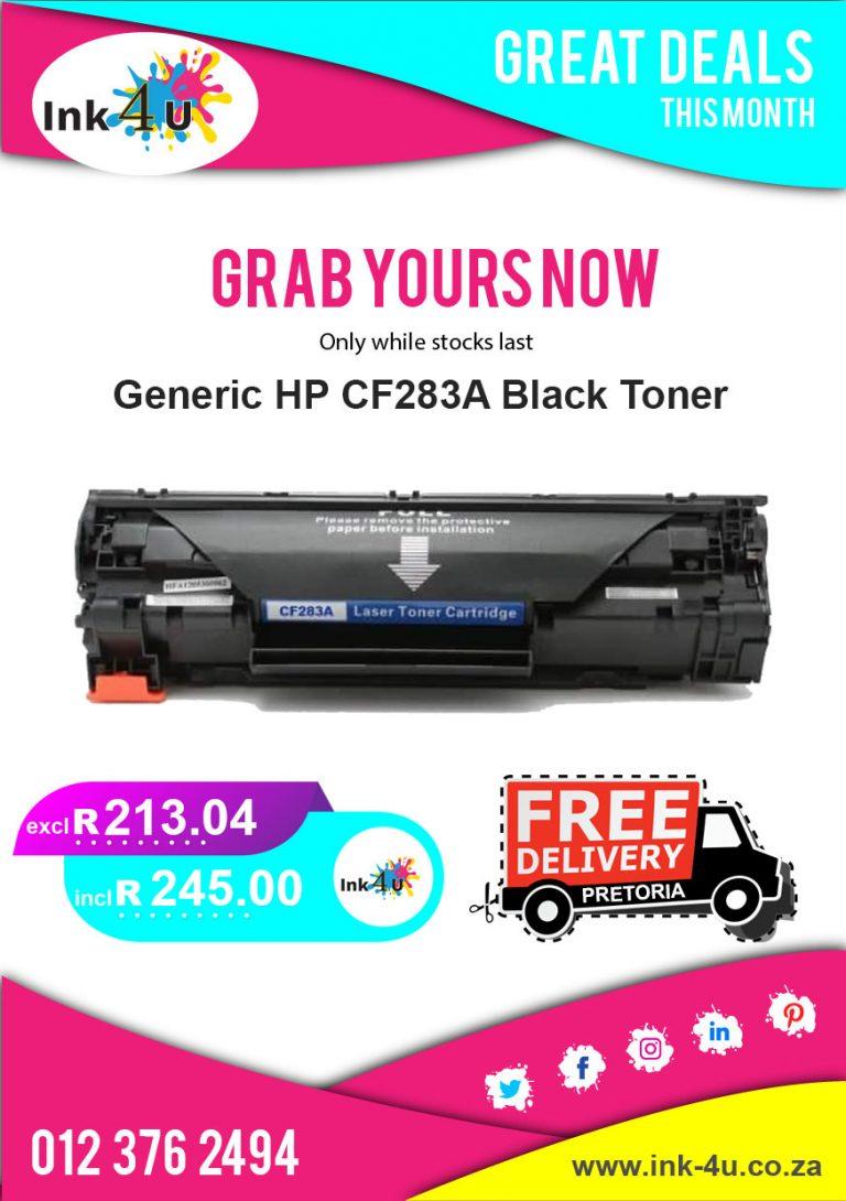 Generic HP 83A (CF283A) Black Toner Special