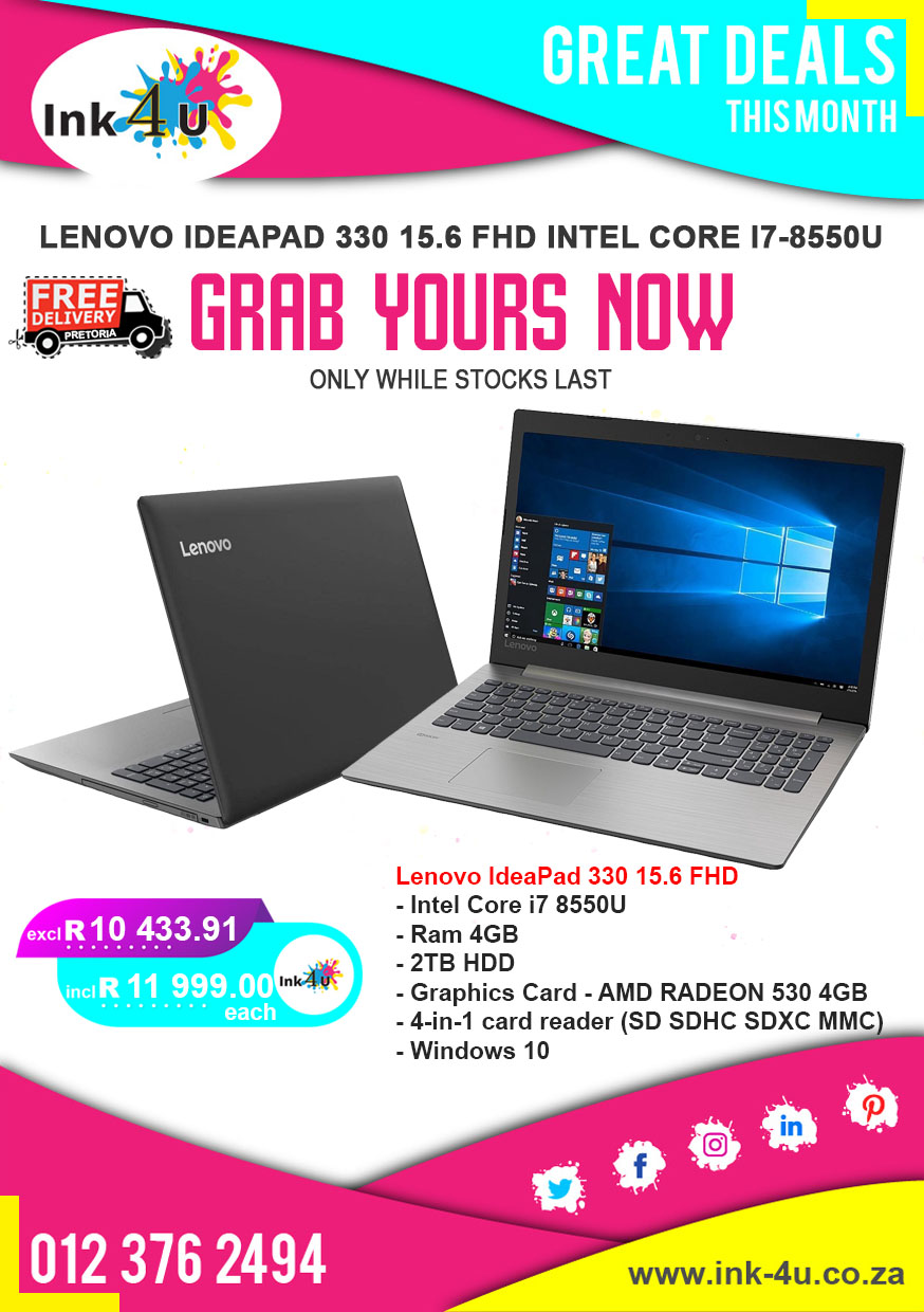 Lenovo IdeaPad 330 15.6 FHD Intel Core i7-8550U