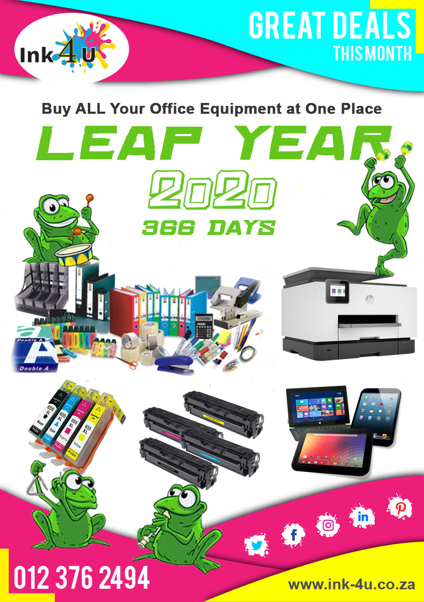 Leap Year 2020 is here ! Buy ALL Your Stationery and Office Equipment From Ink-4U.