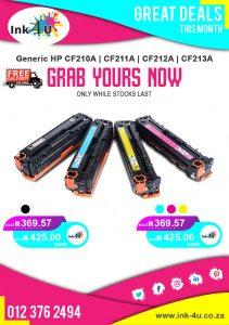Generic HP CF210A, CF211A, CF212A, CF213A Toner