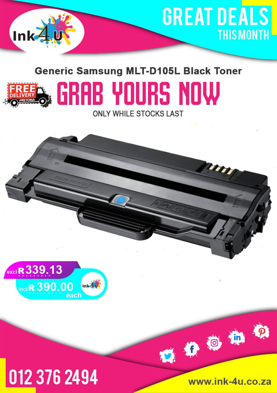Generic Samsung MLT-D105L Black Toner