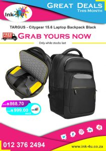 TARGUS – Citygear 15.6 Laptop Backpack Black TCG660GL