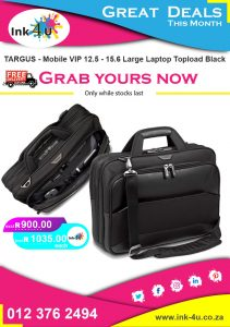 TARGUS – Mobile VIP 12.5 – 15.6 Large Laptop Topload Black TBT916EU