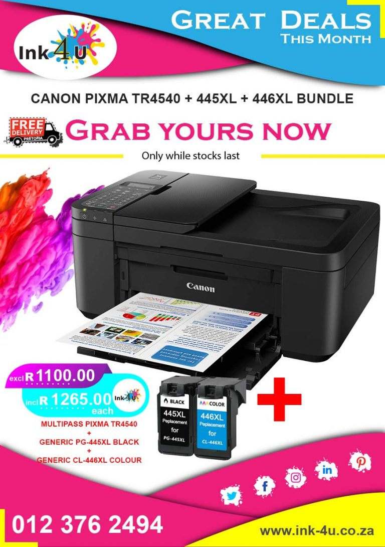 Canon Multipass Pixma TR4540 Printer Bundle