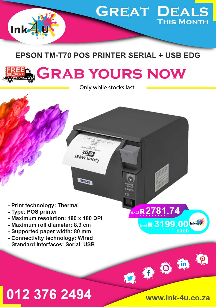 Epson TM-T70 POS Printer