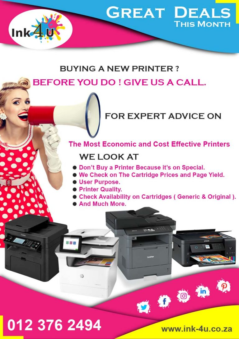 BEFORE YOU BUY A NEW PRINTER ! talk to us first.