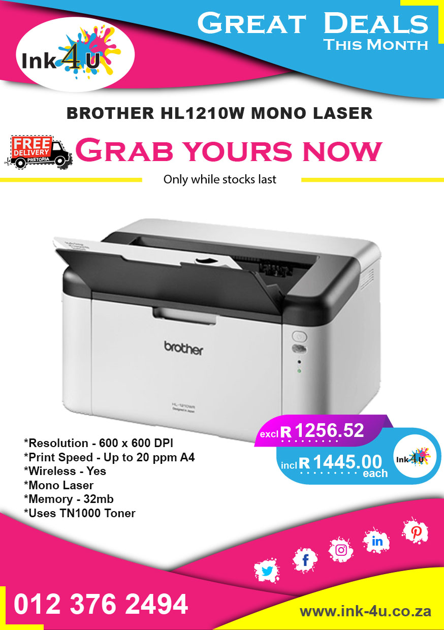 BROTHER HL1210W MONO LASER