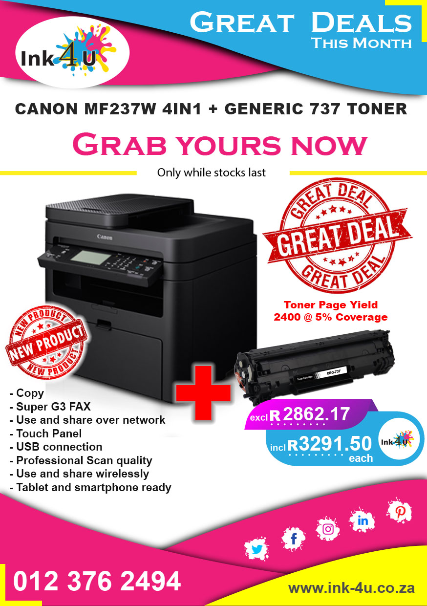 Canon MF237W All in One Printer
