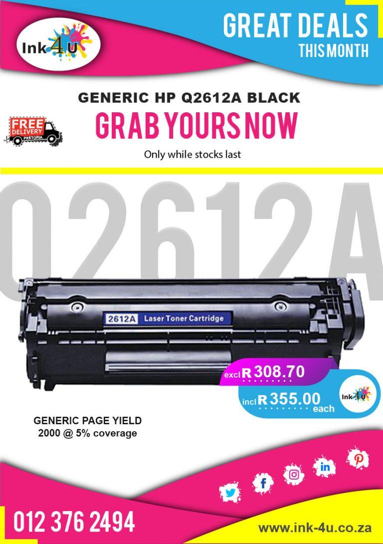 Generic HP Q2612A Black Toner