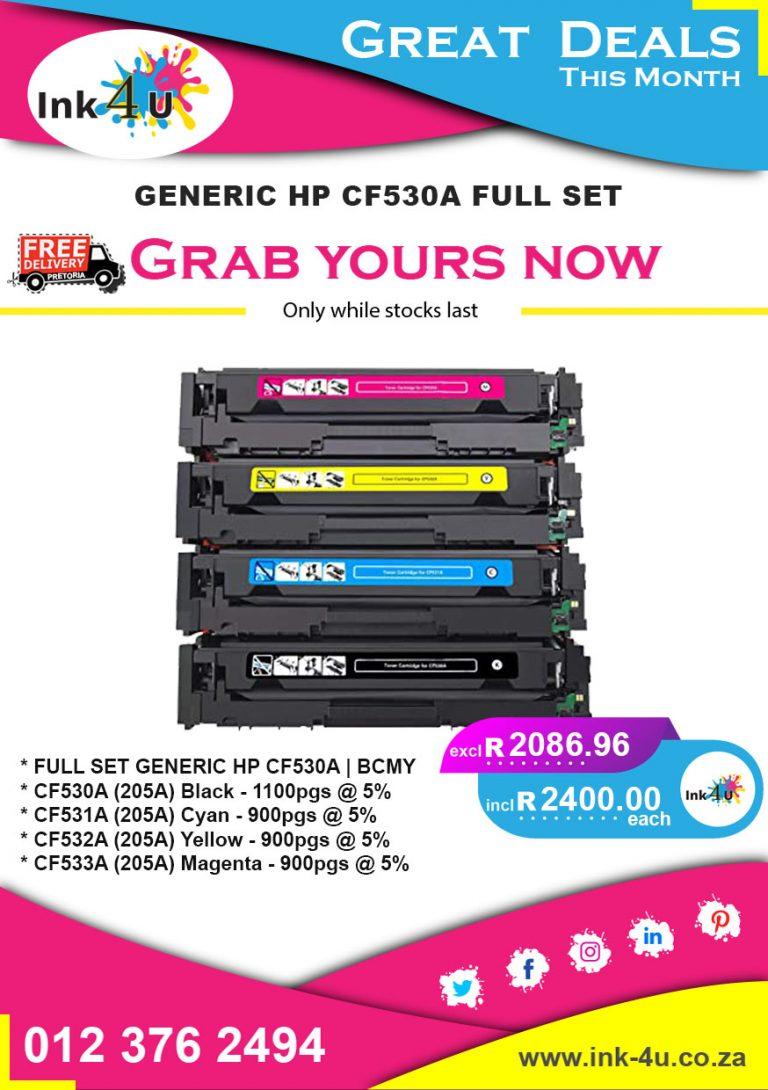 Generic HP CF530A Full Set Deals